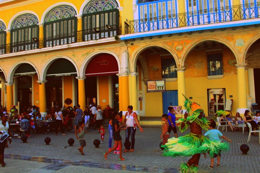 Tänzer Platz Altstadt Havanna