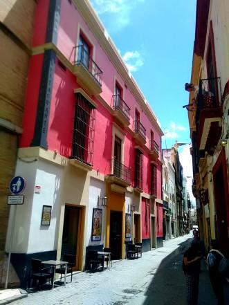 Einfahrt zur Calle de las Sierpes