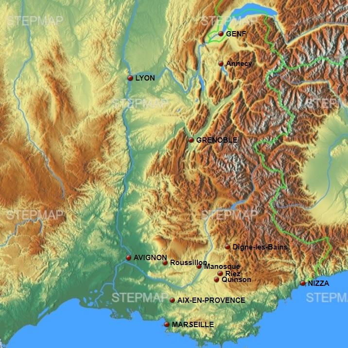 Stepmap Karte Provence