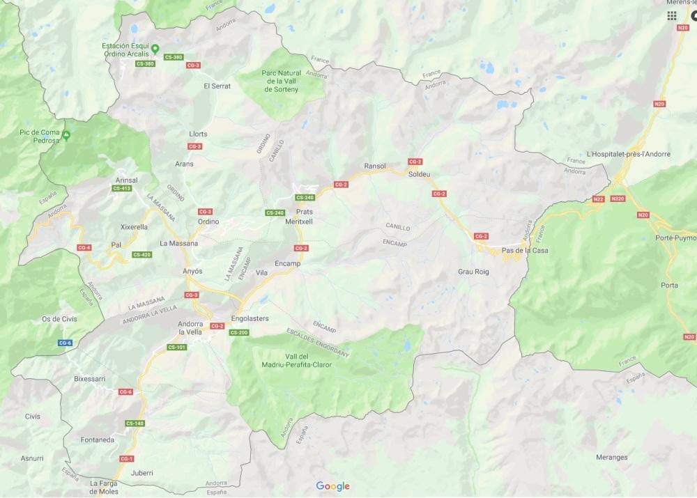 Andorra Karte
