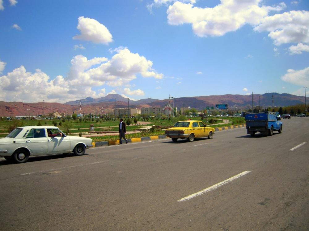 Iran Straße auswärts