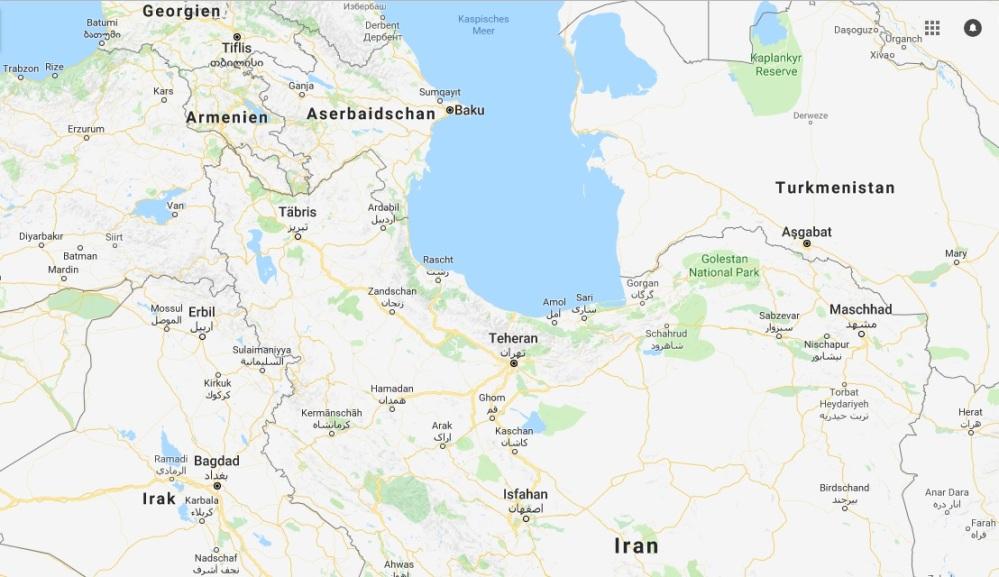 Karte Iran