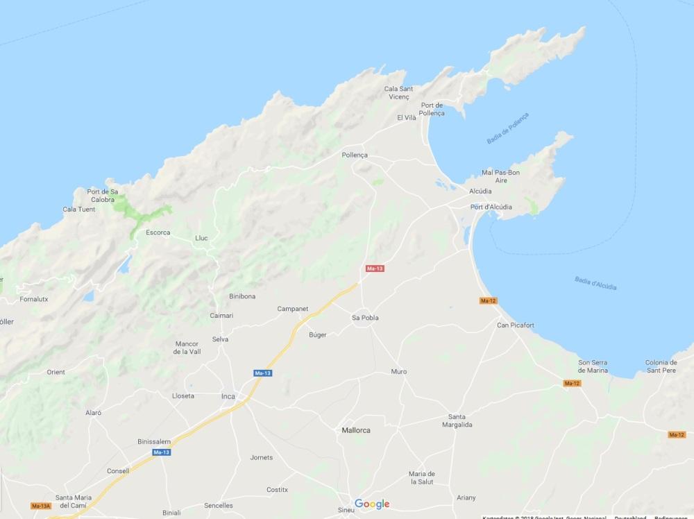 Mallorca Norden Karte