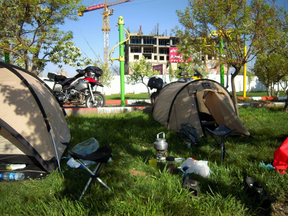 Motrorrad Reise Ausrüstung Equipment Zelt