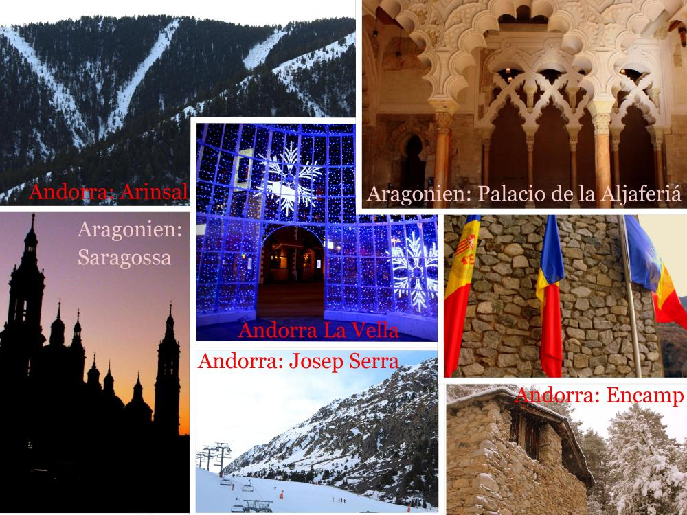 Aragonien Andorra collage