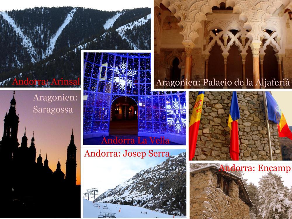 Aragonien Andorra collage