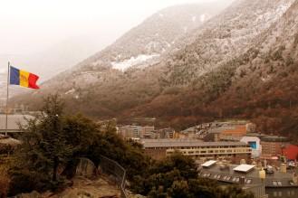 Andorra La Vella nach leichtem Schneefall