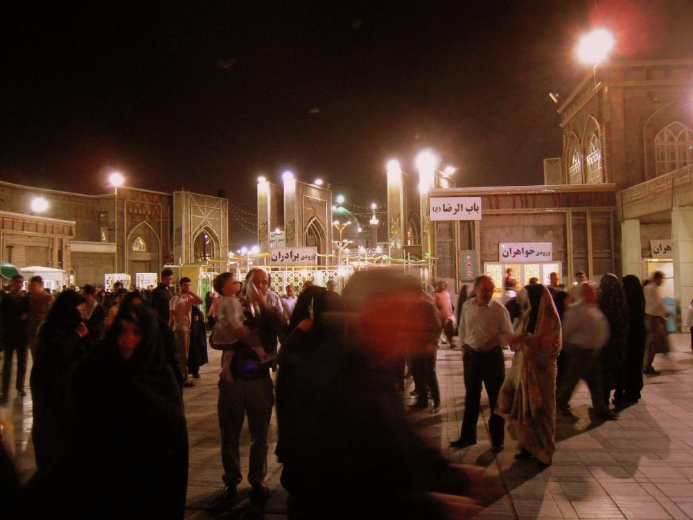 Iran Mashhad abends Stadt Moschee
