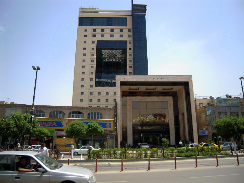 Mashhad Iran Gebäude Hochhaus Verkehr Straße Kongress