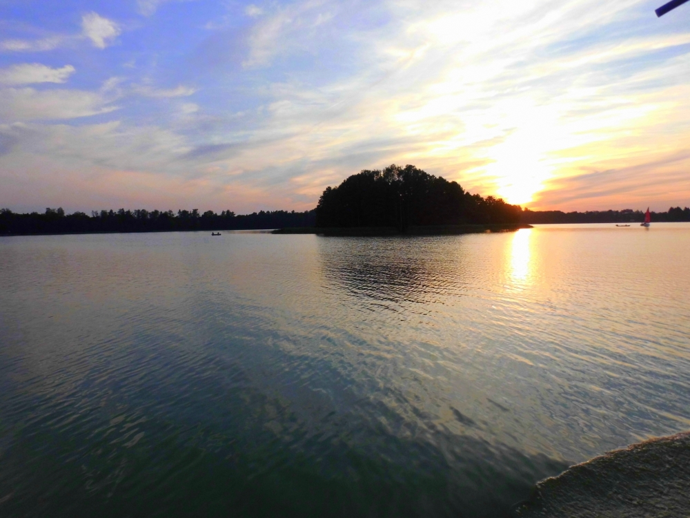Masuren See Sonnenuntergang Insel