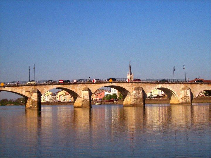 Brücke Mâcon Burgund (Bourgogne) Frankreich