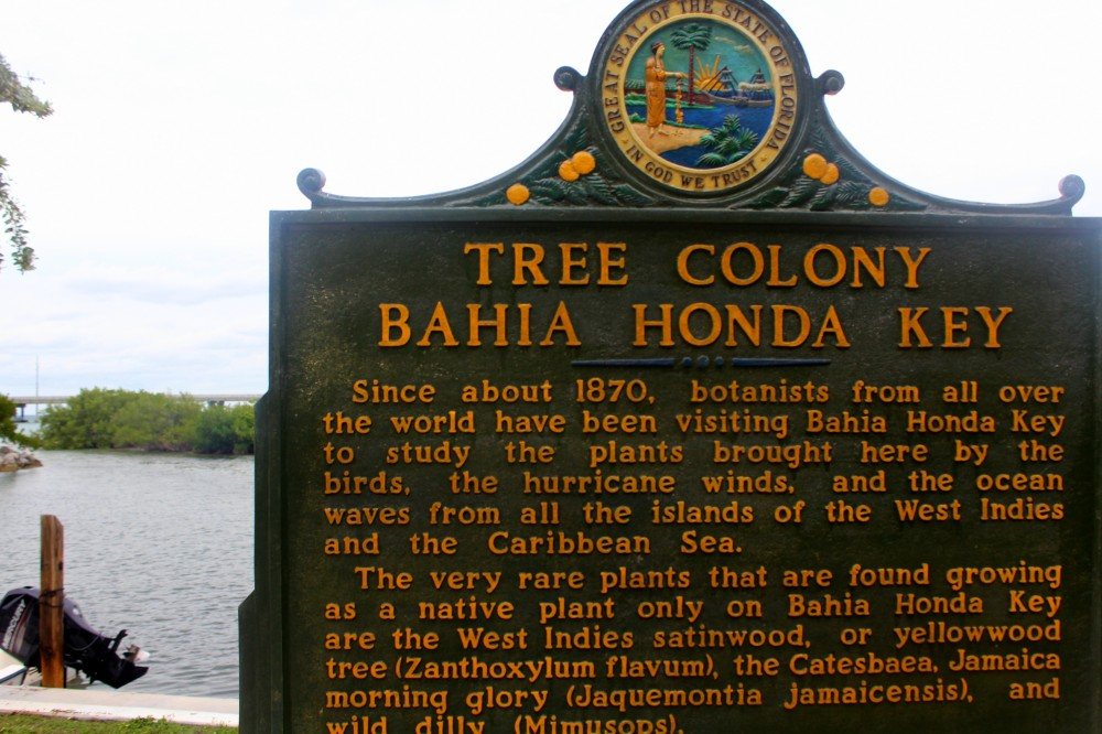 Bahia Honda Colony 1870 signpost Seven Mile Bridge Florida epxloreglobal