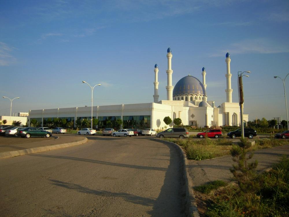 Moschee Mosque 2 Desert Wüste Karakum Turkmenistan Ashgabat Merw Mary Turkmenabad