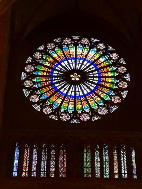Strasbourg Kathedrale Kirchenfenster vitre Strassburg Frankreich France exploreglobal