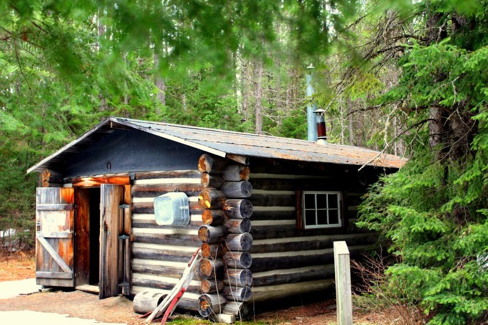 Holzfäller Hütte am Rundweg beim Logging Museum Algonquin Park Ontario Kanada Canada sawmill Sägewerk Oxtongue River Reiseblog exploreglobal www.exploreglobal.wordpress.com