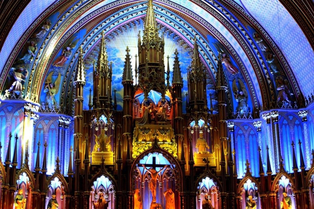 Notre-Dame de Montreal Québec Altar Canada Kanada Kirchew Basilique cathédrale cathedral church inside innen intérieur Reiseblog www.exploreglobal.wordpress.com