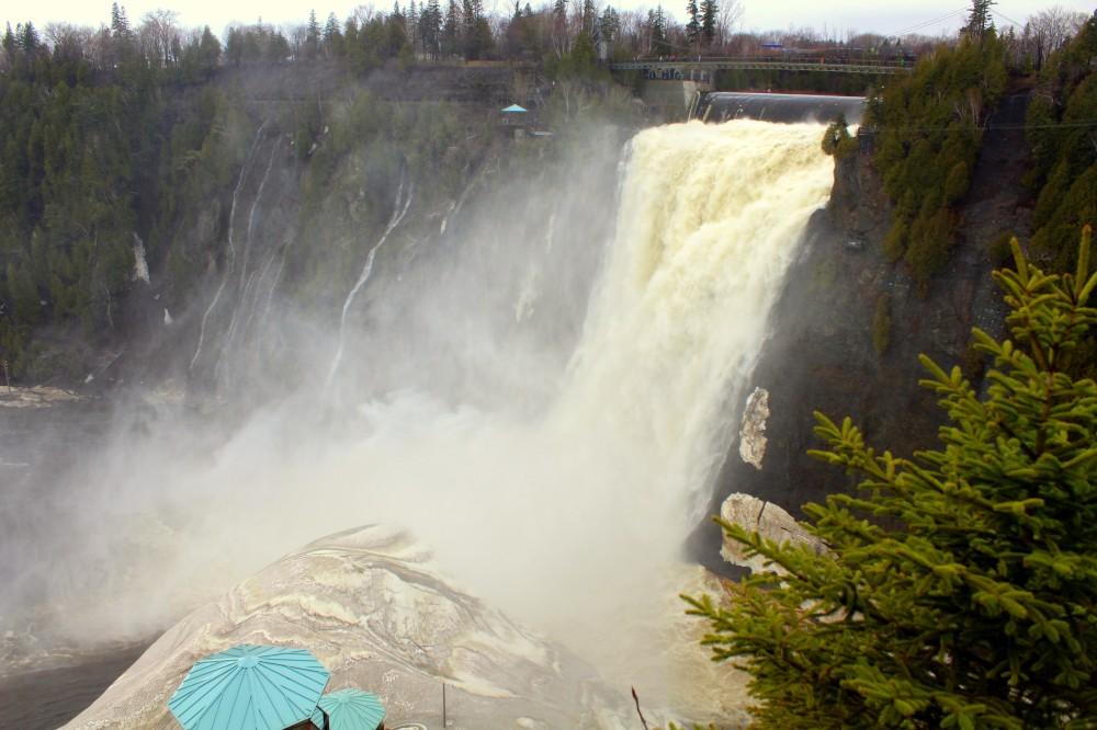 Quebec Montmorency Waterfalls cascade Wasserfall Ile d'Orleans Canada Kanada exploreglobal Reiseblog 2