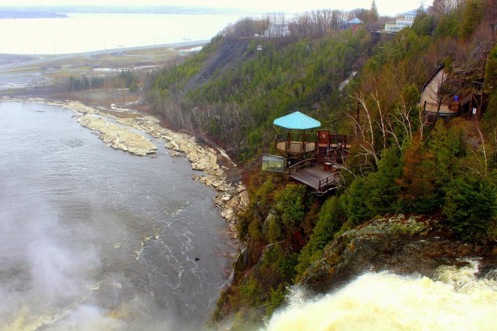 Quebec Montmorency Waterfalls cascade Wasserfall Ile d'Orleans Canada Kanada exploreglobal Reiseblog 5
