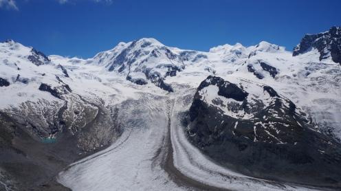 Blick auf den Aletschgletscher in der Schweiz Exploreglobal Reiseblog