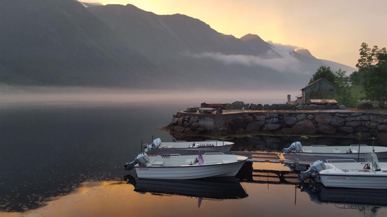 Abendstimmung im Ort Dalsfjord in Norwegen - Reiseblog exploreglobal