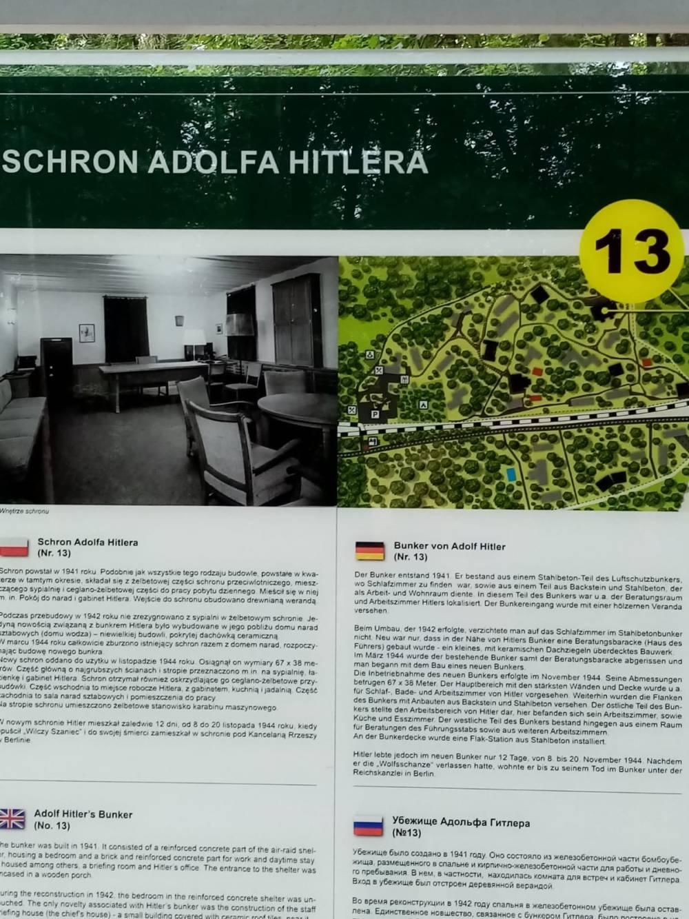 Wolfsschanze Schild Bunker von innen Führerhauptquartier Polen
